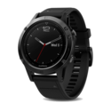 Garmin navigacija Garmin fēnix 5 - 47 mm - Black Sapphire with Black Band